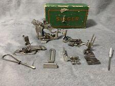 Lot of Vintage Singer Sewing Machine Parts & Accessories Presser Foot