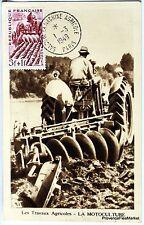 France Carte Maximum  1949 SALON DE LA MACHINE AGRICOLE   Yt 823