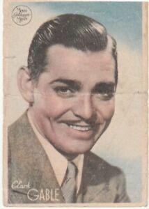 Image imprimée de Clark Gable—Programme films au verso—Espagne—Années 40