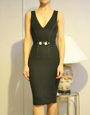 #savingglory BLUMARINE Black Jewel Embellished Trim Women's Pencil Dress XS