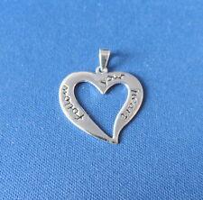 """""""Follow Your Heart"""" Talking Heart Pendant - Sterling Silver"""