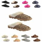 Ladies Womens Winter Fur Lined Luxury Mules SLIPPERS Jyoti Libby All size