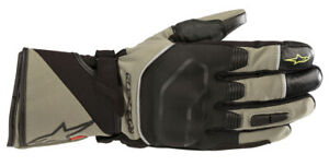 Alpinestars ANDES Outdry Leather/Textile Touring Gloves (Green/Black) Large