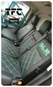 Citroen Relay CUSTOM SEAT COVERS FULL ECO LEATHER Bentley Stitching and 2 logos