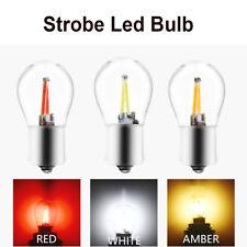 10Pcs Strobe Flash 1156 1157 COB 48SMD Filament LED Turn Signal Light Bulbs 12V