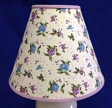 Blue Purple Flower Floral FLowers Lampshade Handmade Lamp Shade