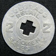 Colorado Retail 2 Aluminum Sales Tax Token
