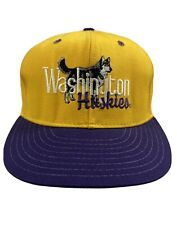 Vintage Rare Washington Huskies SnapBack Made In The Usa Hat