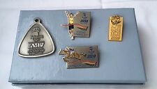 Sydney 2000 Olympic Pins x 3  & PENDANT. Very Rare Torch Relay Presentation