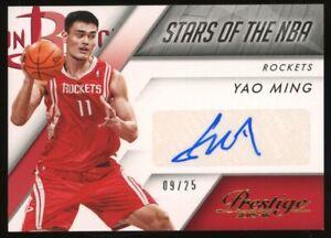 2015-16 Panini Prestige Stars Of The NBA Yao Ming Rockets AUTO /25