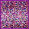"Women's Purple Paisley Fashion Print Hijab Silky-Satin Square Head Scarf 35""*35"""