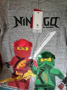 BNWT Lego Ninjago Masters Of Spinjitz T Shirt Age 9 Years with sequins