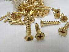 """Brass Phillips Flat Head Wood Screw, #9 x 1"""", Qty 320   USA"""
