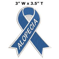ALOPECIA Ribbon Embroidered Patch Iron / Sew-On Applique