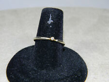 14K White and Yellow Gold with Diamond Stack or Wedding Ring