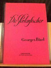 Bizet Pêcheurs Perles / Perlenfischer partition chant piano allemande Choudens