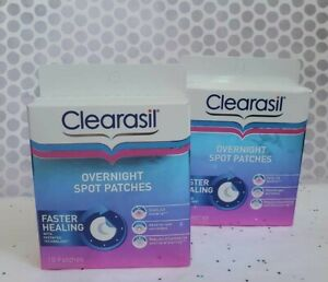 (2) CLEARASIL Ultra OVERNIGHT SPOT Patches 36 Count Total 2 PACK DISCONTINUED 🚩