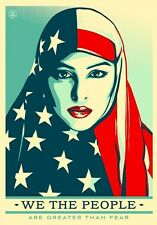 "Shepard Fairey WE THE PEOPLE (ANTI TRUMP) A4 GLOSSY PHOTO PRINT 11.75""X8.25"""