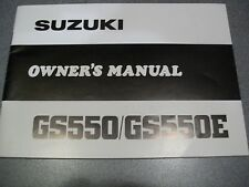 Suzuki 1980 GS550 GS550E Owners Manual 68 Pages 99011-47021-03A
