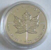 Canada 5 Dollars 1991 Maple Leaf 1 Oz Silver