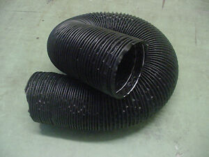 "Mercury 4"" Black Flexible Air Cleaner Intake Tube Hose Defroster SOLD BY FT Nos"