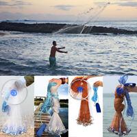 6FT-16FT Magic Hand Cast Fishing Net Spin Network Easy Throw Bait Nylon Mesh