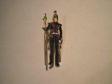soldier with marching staff pin / lapel badge