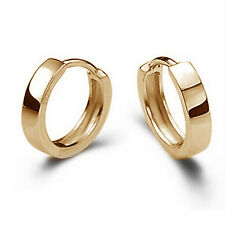 CHIC Fashion Jewelry Men Women 925 Sterling Silver Ear Stud Hoop Earrings