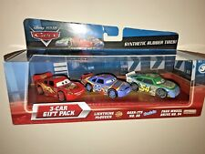 Disney Cars Diecast 3 Car Gift Pack Rubber Tires Lightening Gask-its Faux wheel