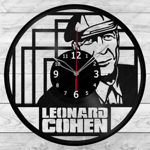 Vinyl Clock Leonard Cohen Vinyl Record Clock Home Decor Handmade 1188