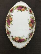 ROYAL ALBERT OLD COUNTRY ROSE Oval Pickle  Plate