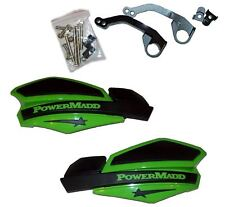 Hand Guards PowerMadd Star Black and Green Mount Honda 400EX NEW PM14203+34252
