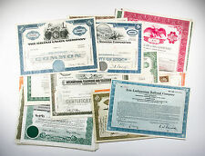 50 diff. old USA paper stocks & bonds certificates nice used/unused great deal