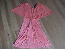LADIES CUTE ORANGE SHORT SLEEVE VISCOSE/ POLY DRESS BY WISH -SIZE XXS - AUS 6