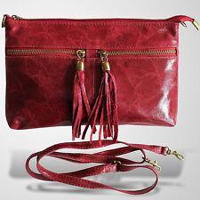 Clutch Abendtasche Schultertasche Leder Umhänge Tasche Handtasche Rot 1
