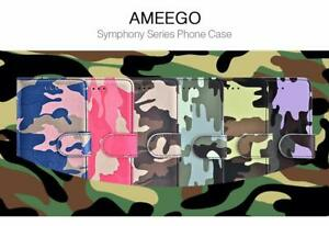 Army Camo Camouflage Magnetic Kickstand Slim Book Case for Apple iPhone 7/8