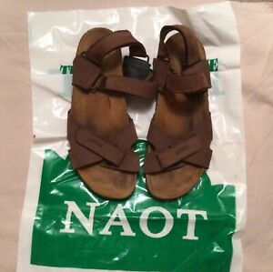 NAOT Cheyenne Sandals Mens Brown Leather, Size US 11, Only Worn a Few Times!