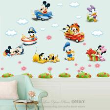 Disney Baby Mickey Minnie Mouse Wall Sticker Removable Vinyl Decal Nursery Decor