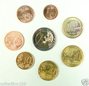 Latvia Coins Set of 8 Pieces 2014 UNC, First Set Euro Coins