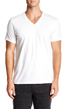 Calvin Klein 1472 Mens White Cotton V-Neck T-Shirt 3 Pack Size XL