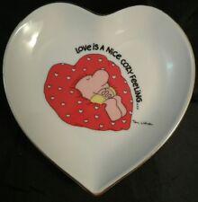 Ziggy Heart Shaped Porcelain Dish Love Is A Nice Cozy Feeling 1980 Tom Wilson