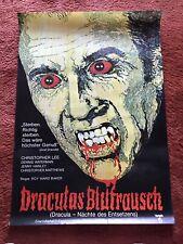 Draculas Blutrausch Kinoplakat Poster A1, Christopher Lee, Nächte des Entsetzens