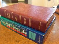 RARE! NIV 1984 Large Print Reference Bible Embossed Cover Limited Edition