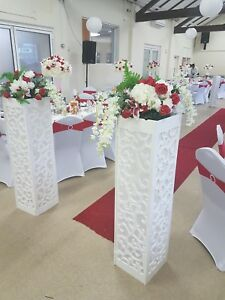 100 Chair Covers and 100 chair bands Hire Only - various band colours available