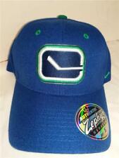 Vancouver Canucks Mens OSFA Navy Zephyr Distressed Adjustable Hat