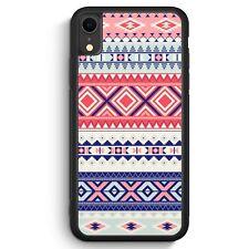 Navajo Muster Bunt iPhone XR SILIKON Hülle Cover Mädchen Frauen Damen Schön S...