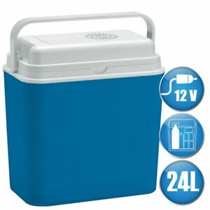 Kühlbox 24L Elektrokühlbox Sommer PU Warmhaltebox 230V Stecker Mini Grau 2 in 1