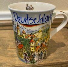 "Porcelain Mug ""Deutschland"" Käthe Wohlfahrt Rothenburg Germany"