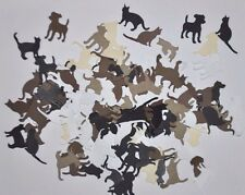 60 Handmade, Assorted Cat and Dog Die Cut Embellishments: Acid Free *ON SALE!!!*
