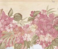 Peach and Pink Laser Cut Floral Wallpaper Border MF008203B